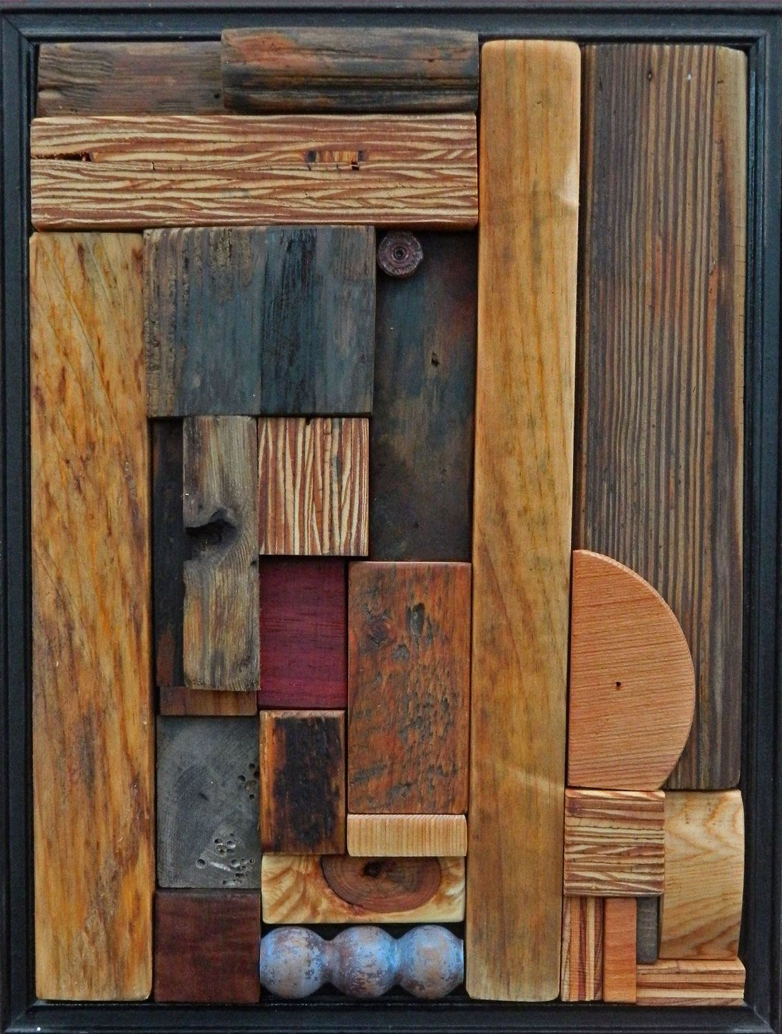 Abstract Wood Wall Art Heather Patterson Abstract Wood Relief Mosaic