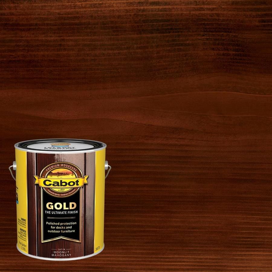 Cabot Gold Pre Tinted Moonlit Mahogany Transparent Exterior Stain And Sealer Actual Net Contents 128 Fl Oz Lowes Com Exterior Stain Cabot Stain Deck Stain Colors