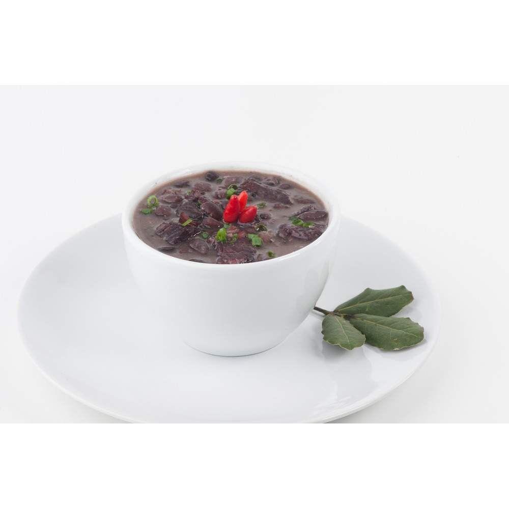 Foto de Feijão preto com carne seca congelado