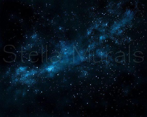 Universe Wallpaper Night Sky Star Glow Moon Stick Decor Effect Wall Sticker SALE