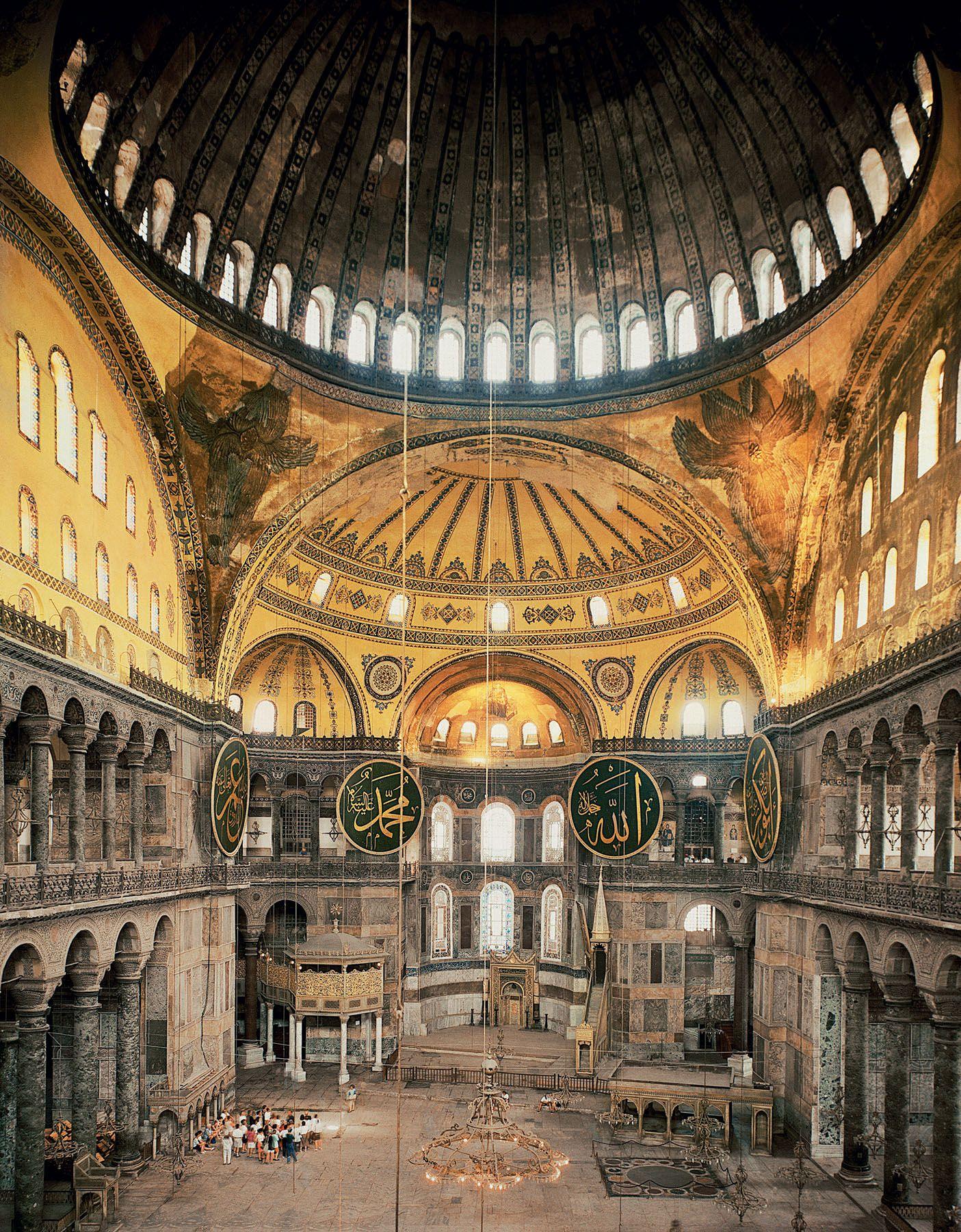 Interior Of Hagia Sophia Istanbul Turkey 532 537 Ce Hagia