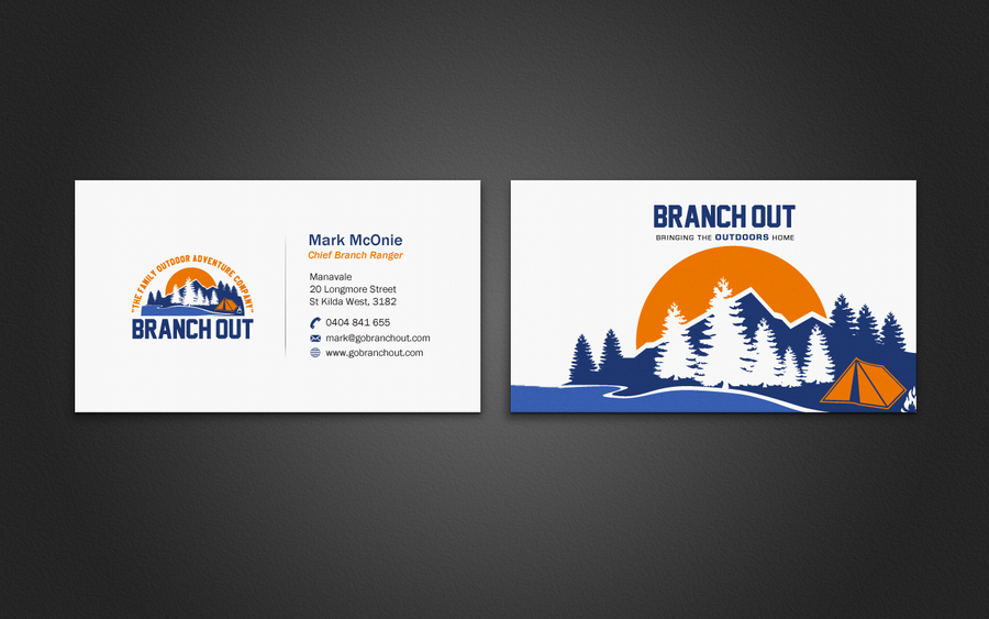 A new business Card for an Outdoor Adventure Company by indezyn ...