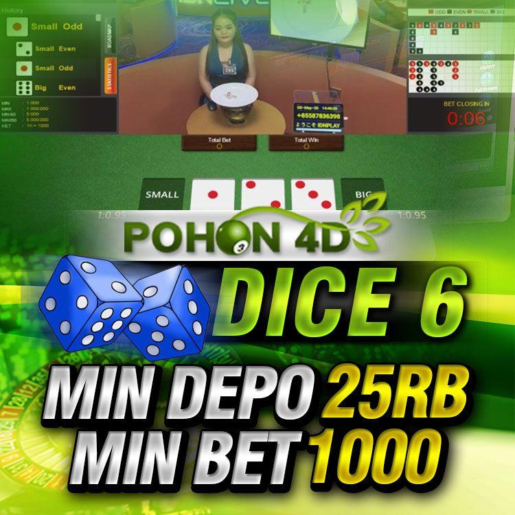 Live Casino Online Dice 6 Dadu Pohon4d Dadu Aplikasi Mainan