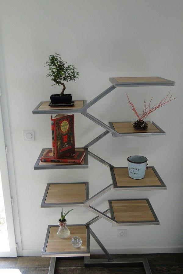 Conception et Fabrication de mobilier contemporain Acier Bois Metal - meuble en fer design