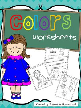 These worksheets provide practice recognizing color words, tracing and writing…