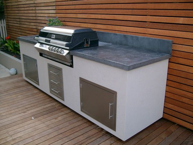 concrete bbq benchtop bbq kitchens pinterest