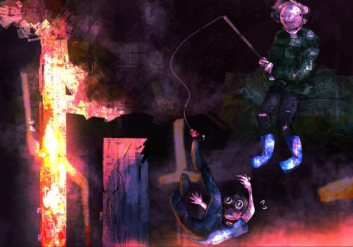 Speedrunner Vs 4 Hunters Minecraft Wallpaper Fan Art Dream T