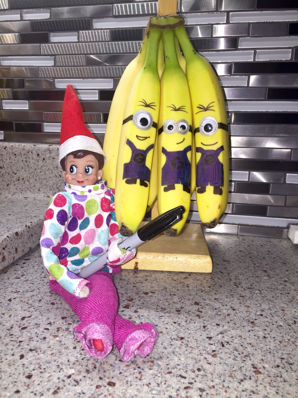 Elf On The Shelf Banana Minions Hot Glue Googley Eyes Use Silver