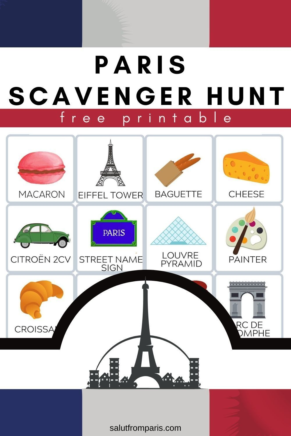 entertain your kids in Pairs with this free Scavenger Hunt