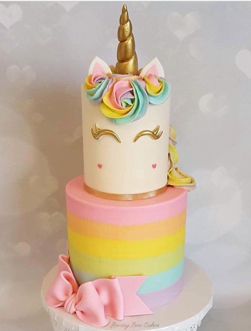 Rainbow Unicorn Cake So Cute baby girl 1st birthday Pinterest