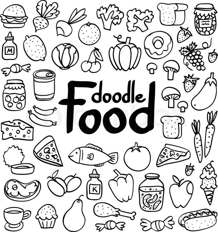 how to draw simple food