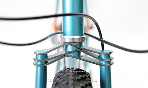 The fork crown of the Demi Porkeur by custom bike builder Hartley Cycles of London