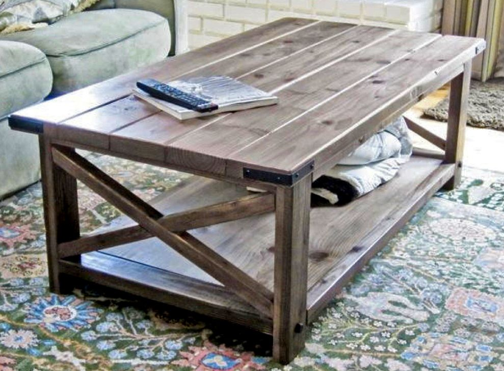 rustic x coffee table design from ana white tables sets pinterest coffee table design. Black Bedroom Furniture Sets. Home Design Ideas