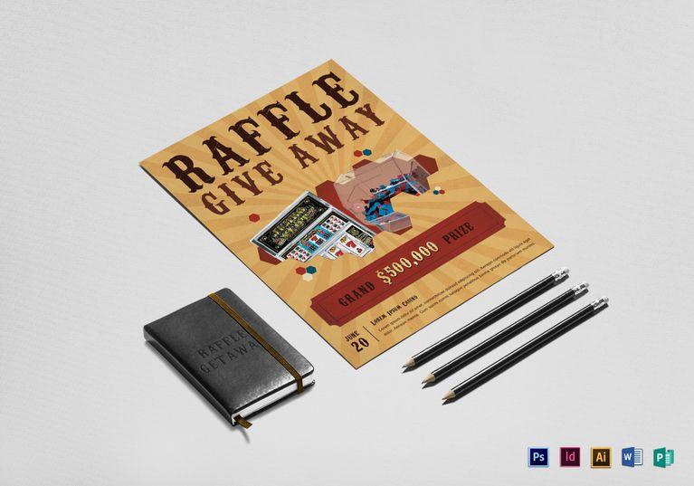 Casino Raffle Flyer  Design Flyer Templates    Flyer