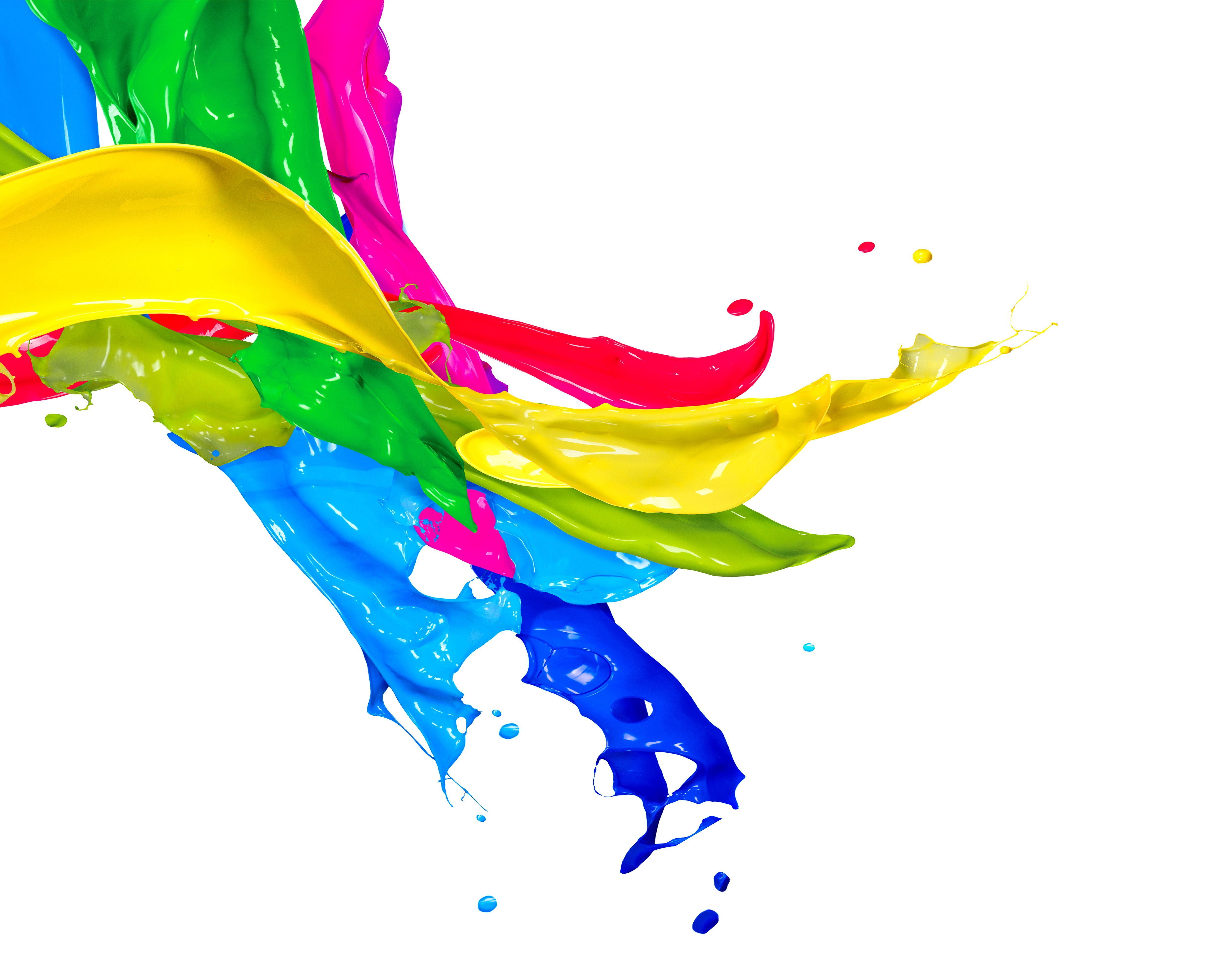 Color Paint Art White Illustration Plus Wallpaper