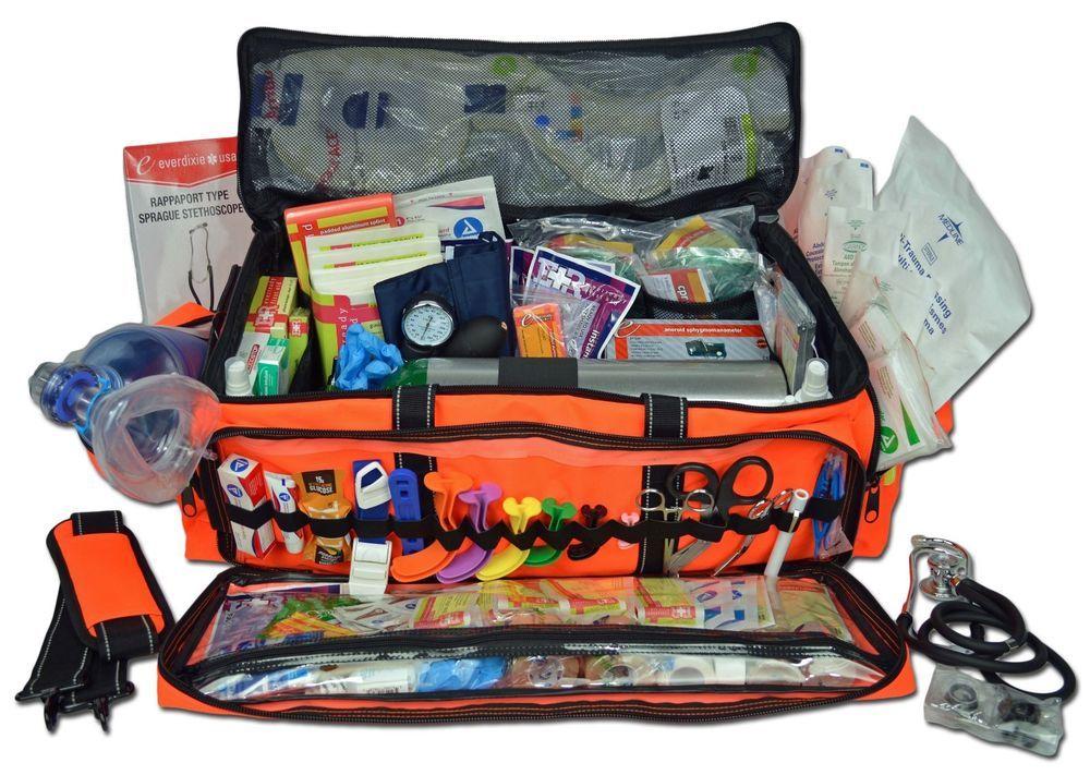 Lightning X O2 Medic First Responder Emt Trauma Jump Bag Aid Stocked Kit D Business Healthcare Lab Life Science