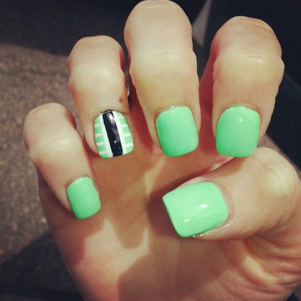 Mint Green Summer Nails Green Nails Nails Summer Nails