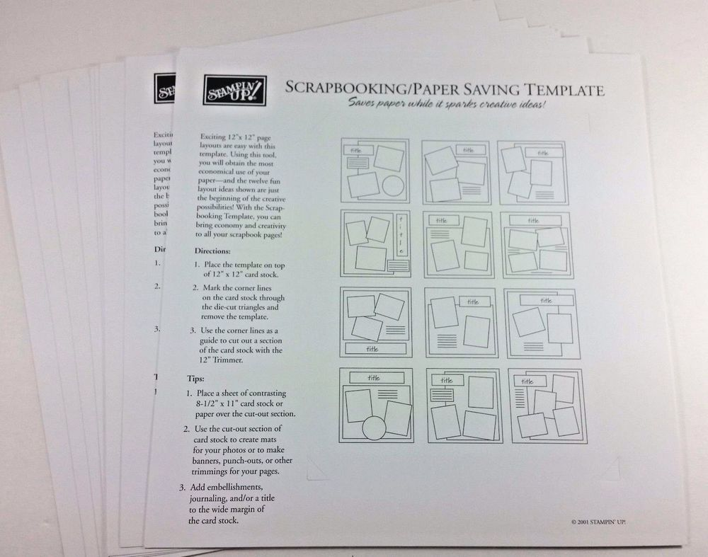 Stampin Up Scrapbookingpaper Saving Template Craft Treasures
