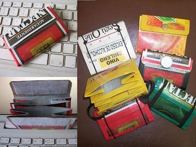 7e9b77834 Monederos de Tetra Pak | recycle | Tetra pak, Recycled crafts y ...
