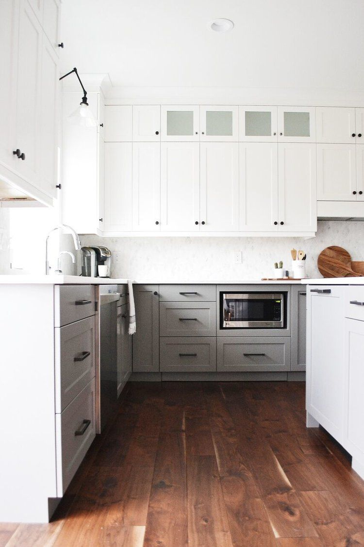 Jaclyn Peters Design White Dove Kitchen Cabinets Chelsea Grey Kitchen Cabinets Walnut Island Cambri Kitchen Cabinets Grey Kitchen Cabinets New Kitchen Cabinets