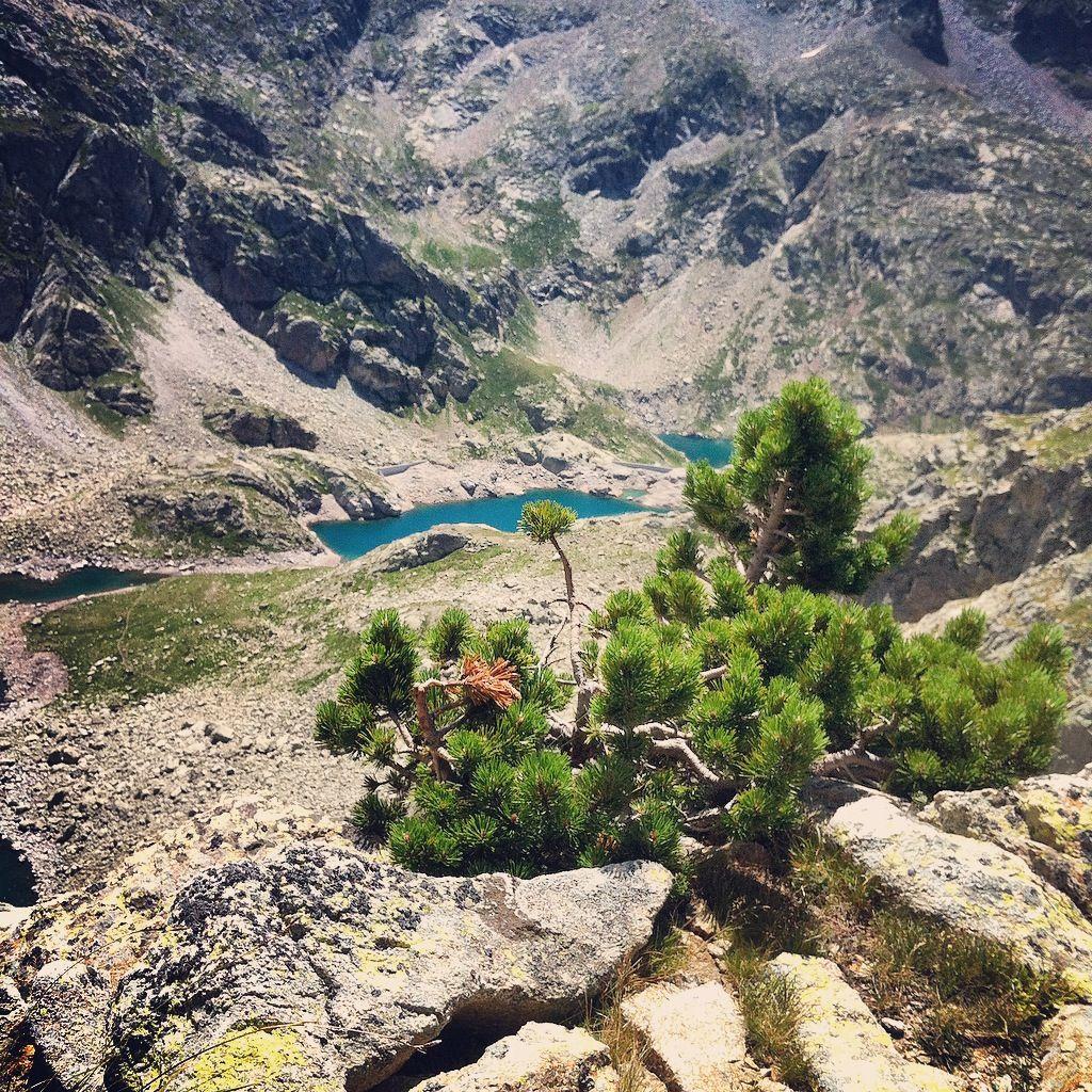 Col d'Arremoulit, vue sur le lac d'Arriel