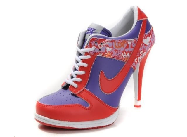 sports shoes 921fc 5e7b7 Nike Dunk Low Valentines day Womens High Heels Red Purple