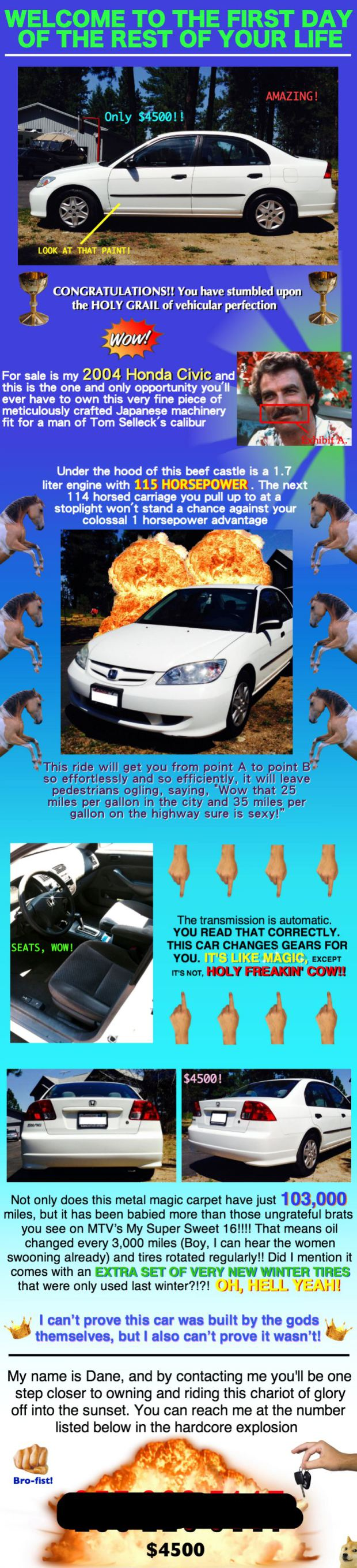 This May Be the Best Craigslist Ad for a Car Ever | Things ...