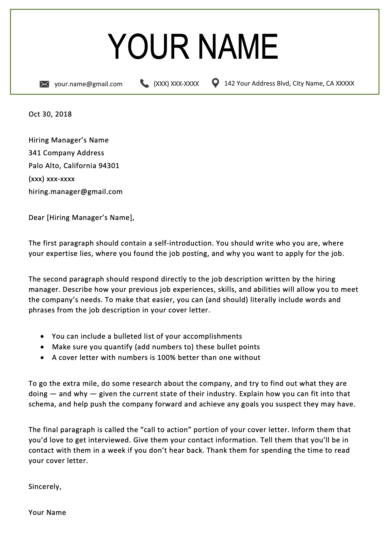 Westminster Green Resume RG Cover letter template free