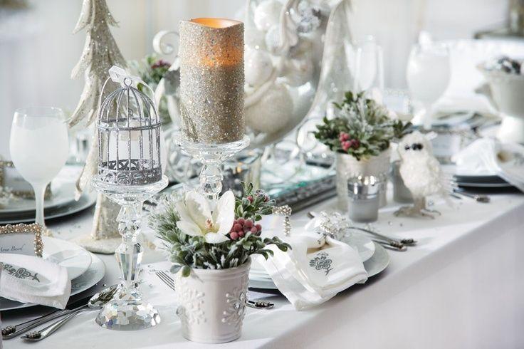 Decorazioni Da Tavola Per Natale : Tavola di natale argento tovaglioli argento natale la tavola