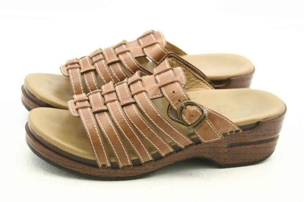 Dansko Marion Womens Sandals Size 8 5 9 Leather Slides