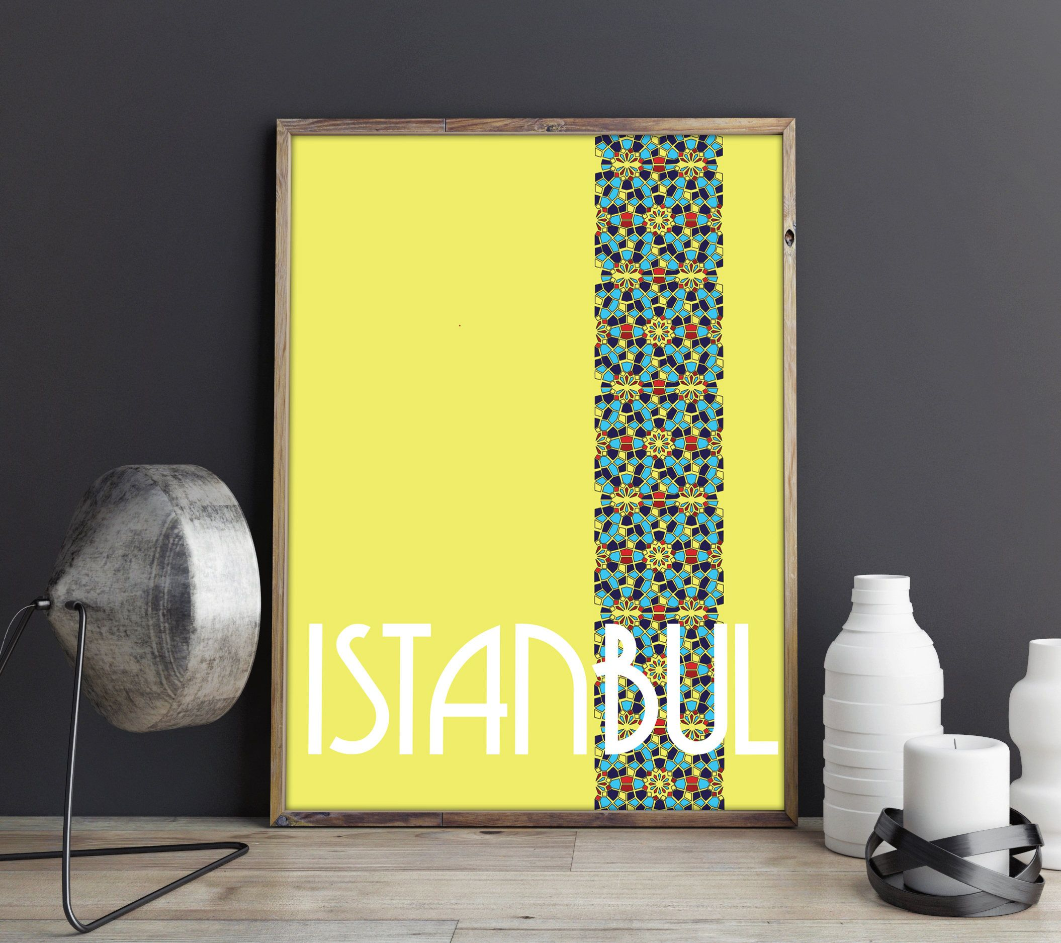 Istanbul / Turkey / Art Deco / Typography / City Print / Islamic ...