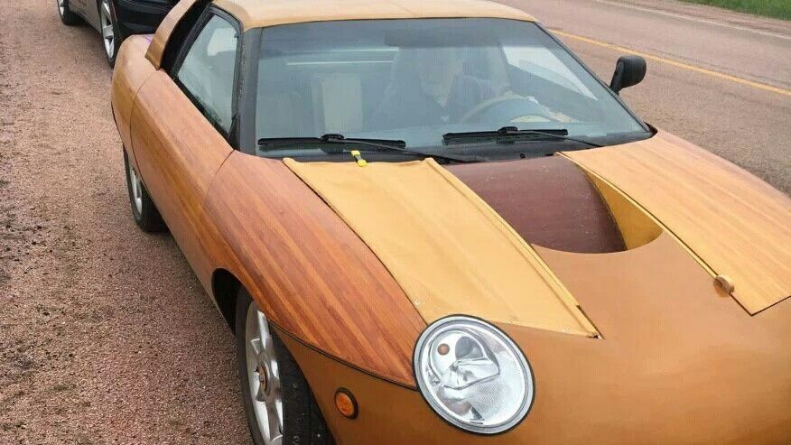 Sports Car Made Of Wood
