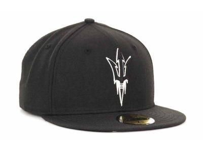 0d326786 Arizona State Sun Devils New Era 59Fifty NCAA Black on Black with White Hats