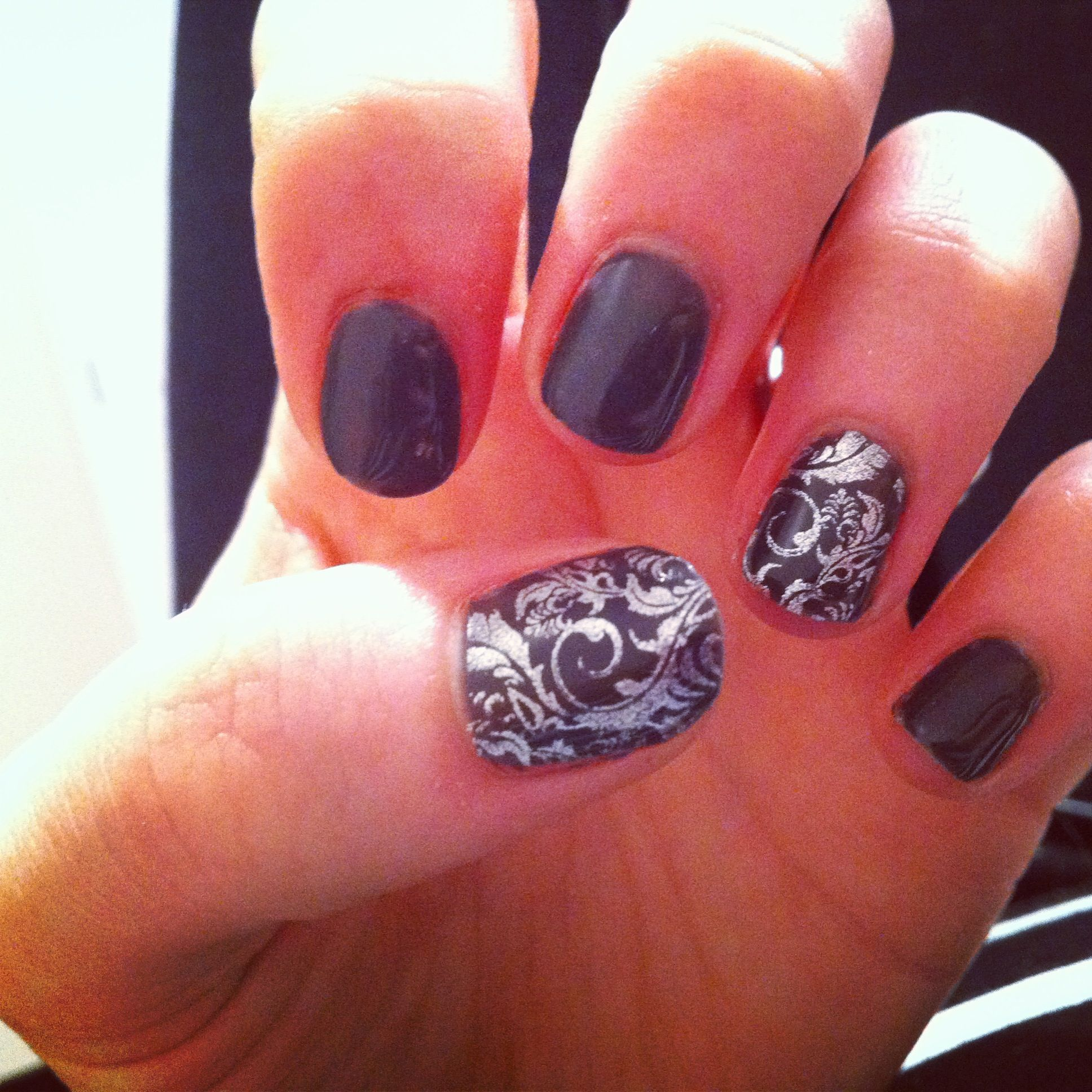 Shellac nails. I love the design | Nails | Pinterest