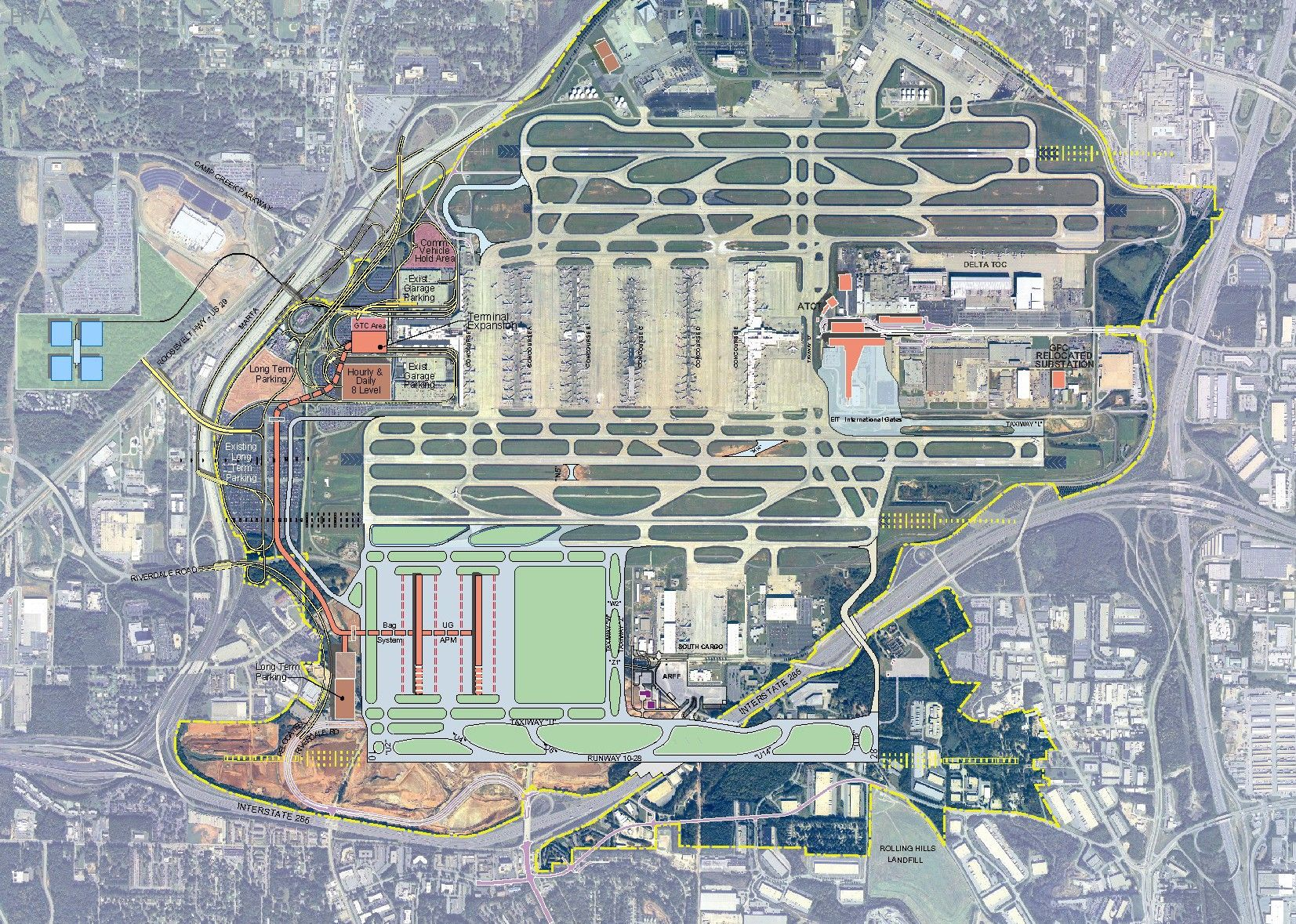 Atlanta Hartsfield Jackson Proposed South Terminal (vs