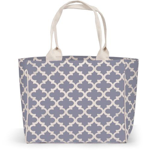 Town and Country Quatrafoil Canvas Tote