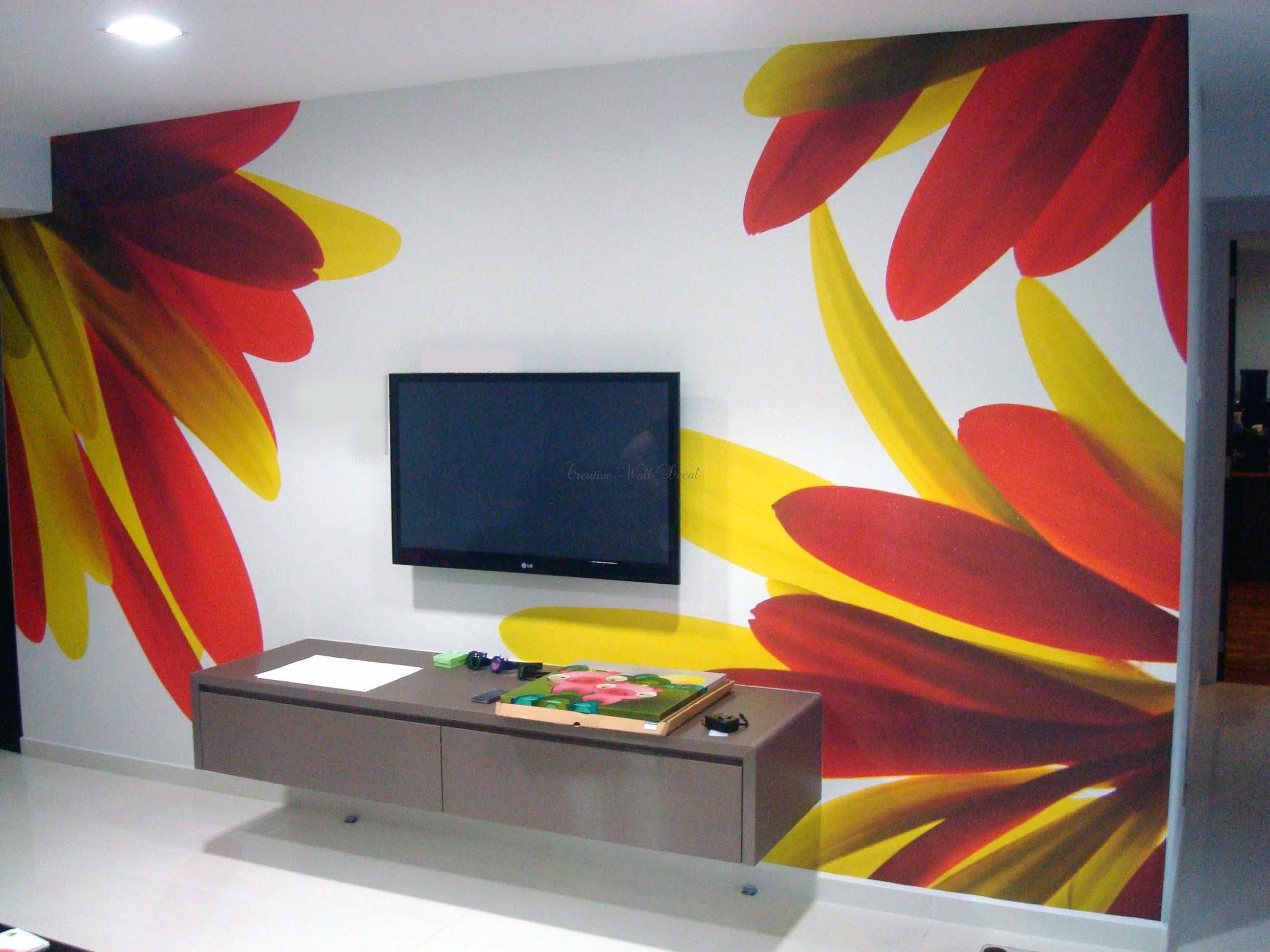 20 well favoured wall painting ideas for ideas and inspiration i would do the flowers on - Interior Wall Painting Designs
