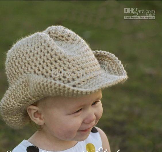 Crochet Baby Caps Hat Pattern 0 12 M Childrens Kids Cowboy Caps