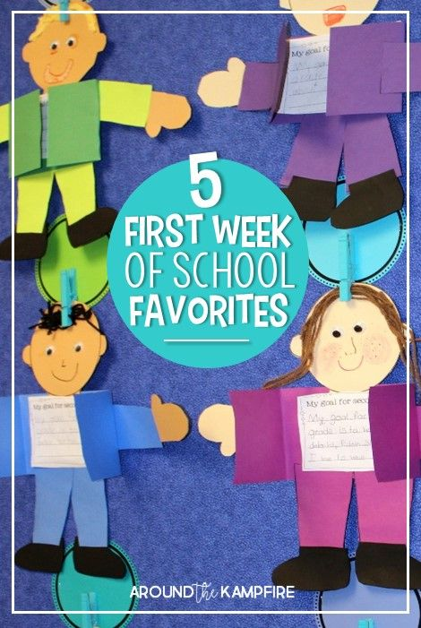 5 Fun Favorite Activites for the First Week of School - Around the Kampfire