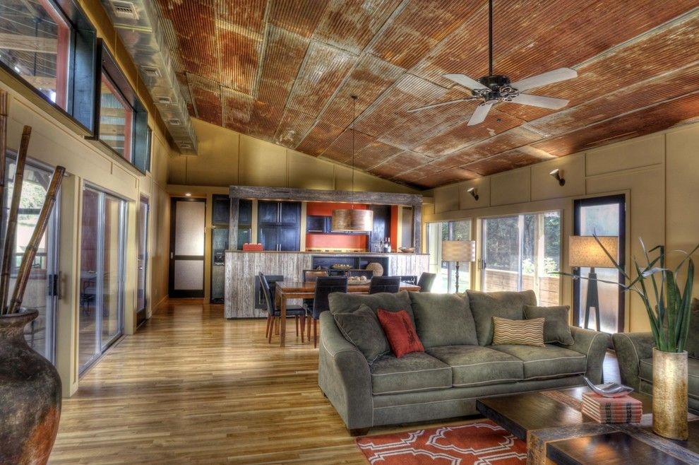 love the tin ceiling,,,rustic!!! The Home That Jack