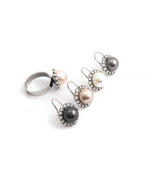 Krikor Bruine parel oorbellen 10 mm brown pearl