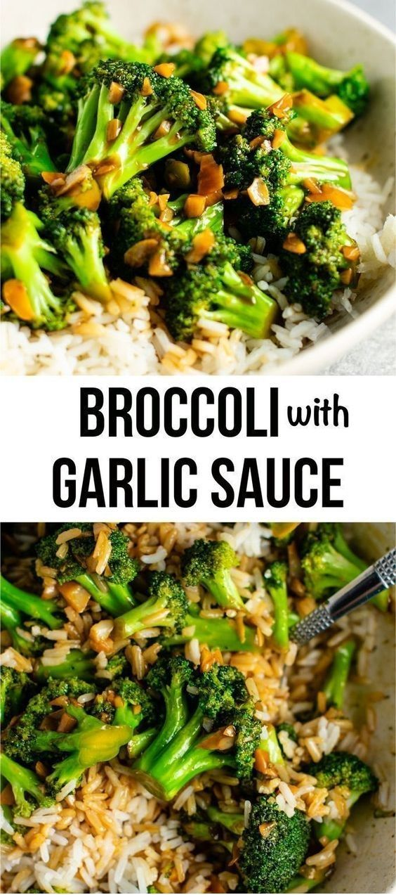 Broccoli With Garlic Sauce #summerdinnerseasy