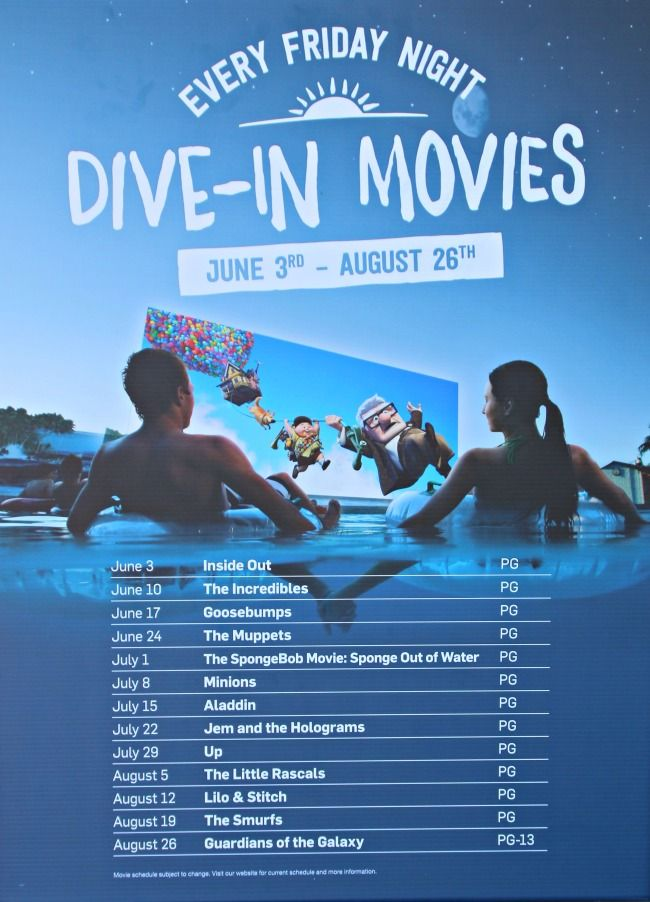 View the latest schedule for wet n wild dive in movies for your family friendly summer fun in - Dive in movie ...