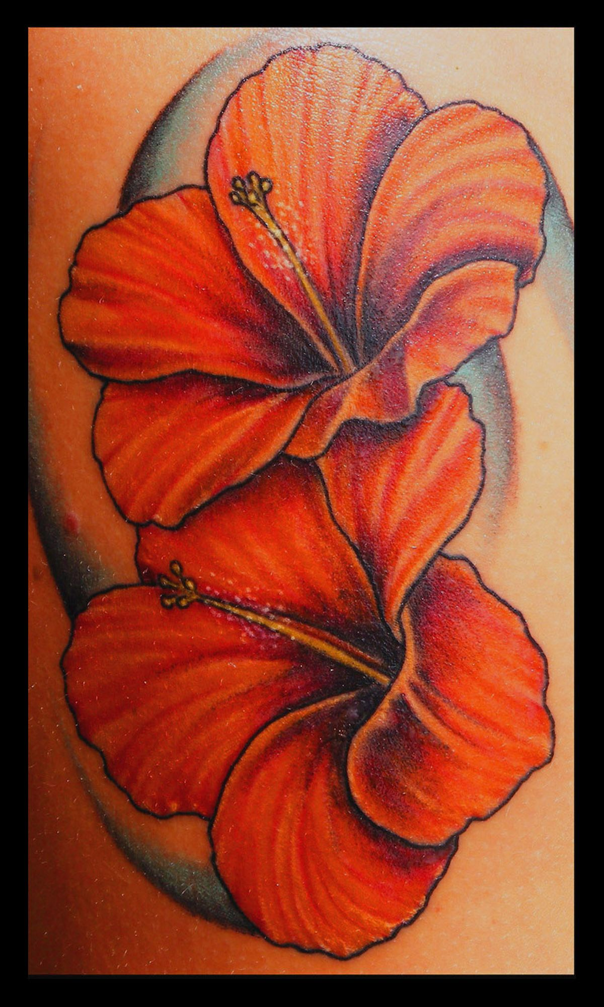 Hibiscus Tattoo I Love This Color! Then Add A Hummingbird