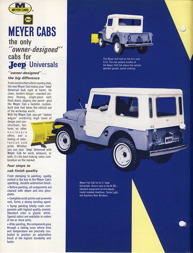 Mid 1960s Meyer Hardtop Ad Willys Jeep Jeep Willys
