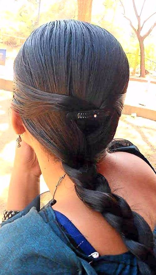 Basic Plait For Oily Hair Day Slick Hairstyles Hair Styles Cool Hairstyles
