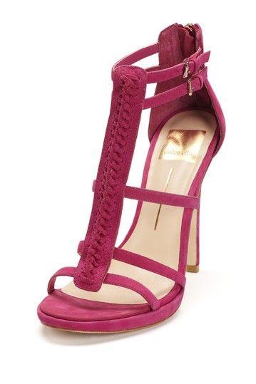 Fuchsia T-Strap Sandal / Dolce Vita