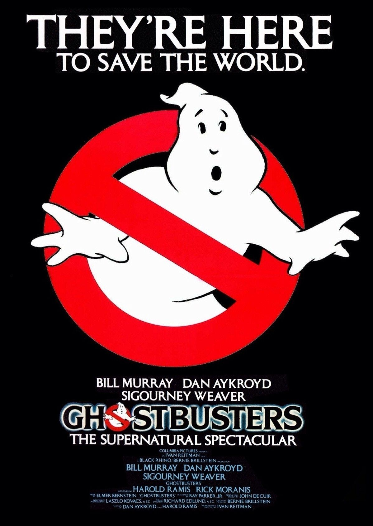 Ghostbusters Movie Poster 1984 Suncoast Movies Ghostbusters