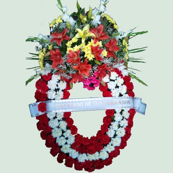 Corona de flores para funeraria - Coronas de flore ...