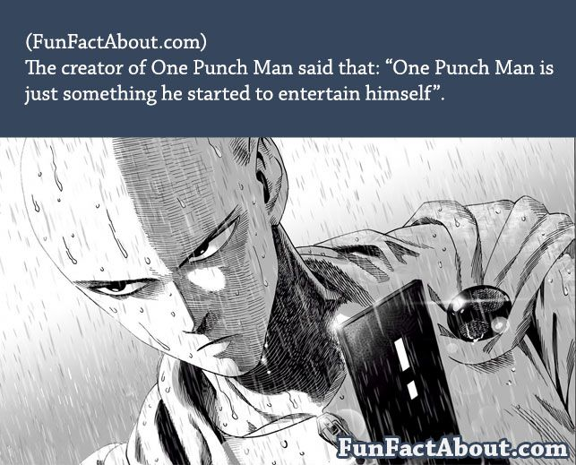 Fun Facts About One Punch Man Funfactabout One Punch Man One Punch Man